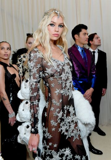 Stella Maxwell attends The 2019 Met Gala Celebrating Camp: Notes on Fashion at Metropolitan Museum of Art on May 06, 2019 in New York City. (Photo by Mike Coppola/MG19/Getty Images for The Met Museum/Vogue )