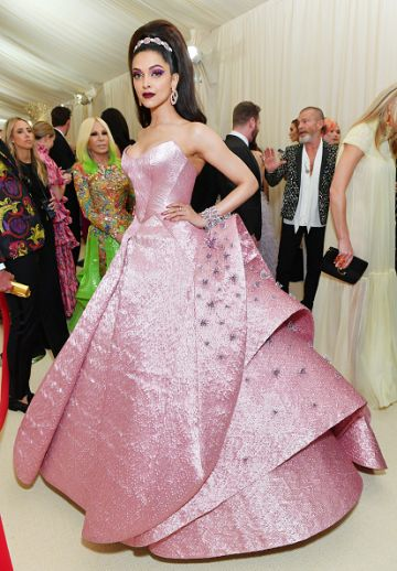 Deepika Padukone attends The 2019 Met Gala Celebrating Camp: Notes on Fashion at Metropolitan Museum of Art on May 06, 2019 in New York City. (Photo by Mike Coppola/MG19/Getty Images for The Met Museum/Vogue )
