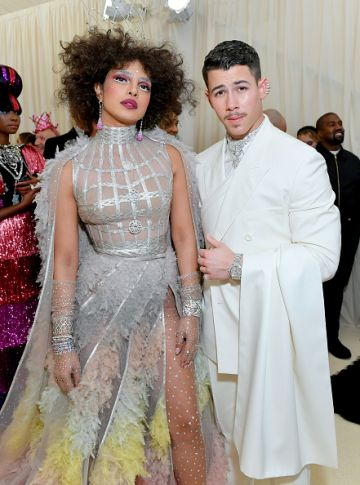 Nick Jonas and Priyanka Chopra attend The 2019 Met Gala Celebrating Camp: Notes on Fashion at Metropolitan Museum of Art on May 06, 2019 in New York City. (Photo by Mike Coppola/MG19/Getty Images for The Met Museum/Vogue )