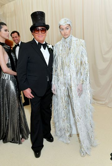 Gigi Hadid and Michael Kors attend The 2019 Met Gala Celebrating Camp: Notes on Fashion at Metropolitan Museum of Art on May 06, 2019 in New York City. (Photo by Mike Coppola/MG19/Getty Images for The Met Museum/Vogue )