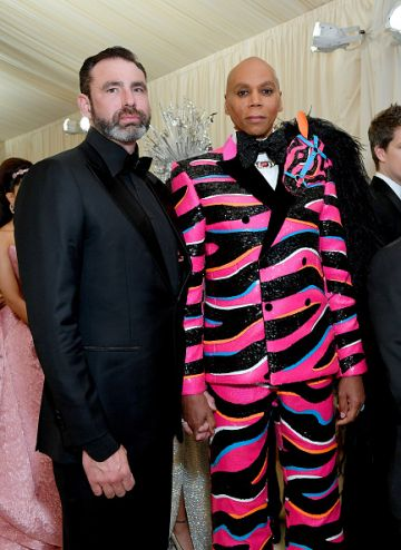 Georges LeBar and RuPaul attend The 2019 Met Gala Celebrating Camp: Notes on Fashion at Metropolitan Museum of Art on May 06, 2019 in New York City. (Photo by Mike Coppola/MG19/Getty Images for The Met Museum/Vogue )