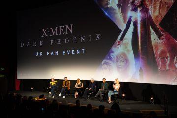 "Michael Fassbender, Sophie Turner, Simon Kinberg, Jessica Chastain, and James McAvoy attend the UK Fan Event of <a href=""https://entertainment.ie/cinema/movie-reviews/x-men-dark-phoenix-7257/"">X-Men: Dark Phoenix</a> in London."