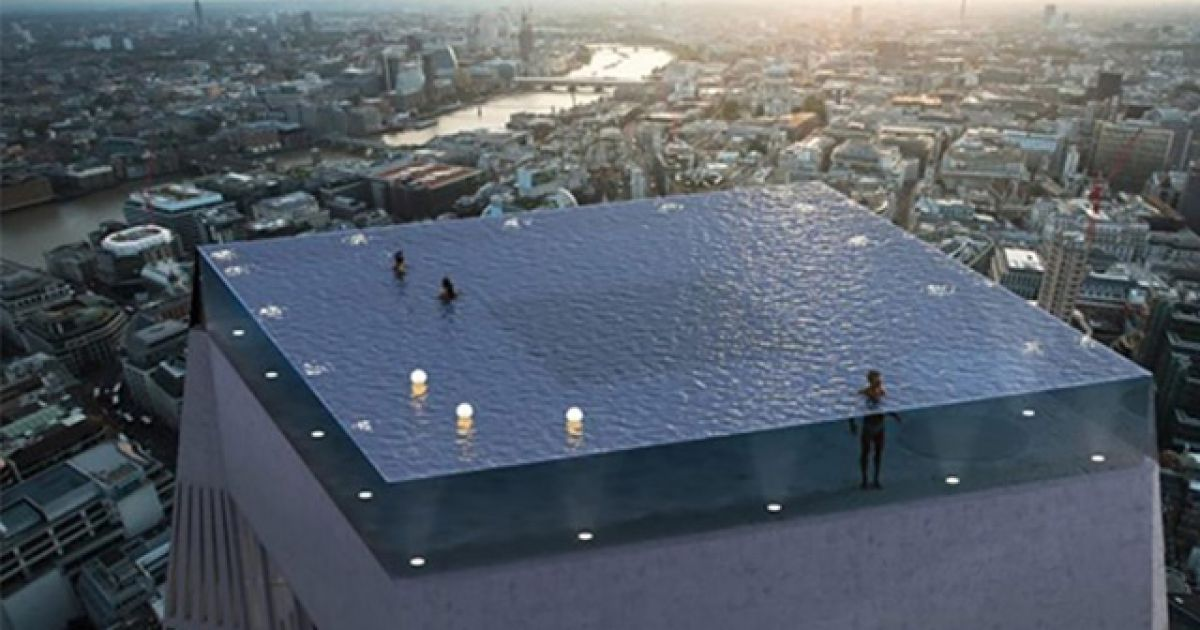 The reactions to the world's first 360-degree infinity pool