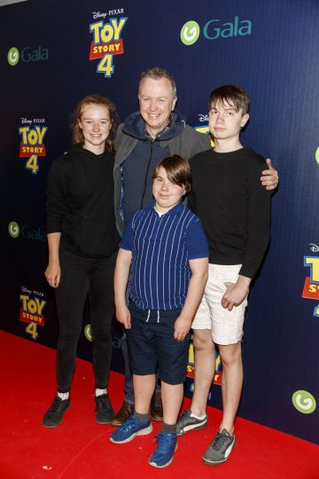 Matt Cooper and Millie Sack pictured with family at the special event screening of Disney Pixar's TOY STORY 4 in the Light House Cinema Dublin. Picture: Andres Poveda