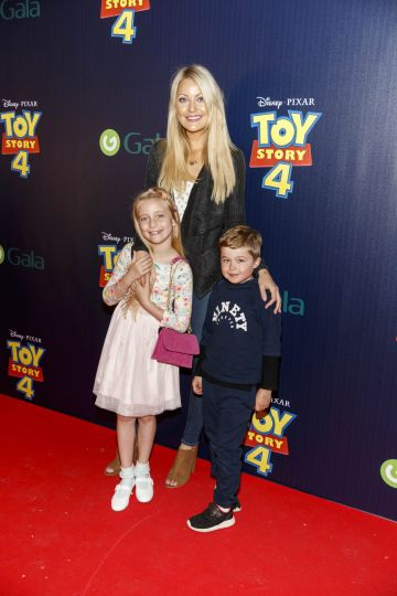 Kerri Nicole Blanc, daughter Kayla and friend Rian Cooling (6) pictured at the special event screening of Disney Pixar's TOY STORY 4 in the Light House Cinema Dublin. Picture: Andres Poveda