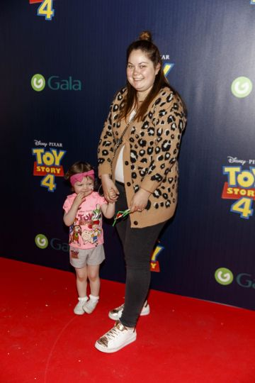 Grace Mongey and daughter Sienna pictured at the special event screening of Disney Pixar's TOY STORY 4 in the Light House Cinema Dublin. Picture: Andres Poveda