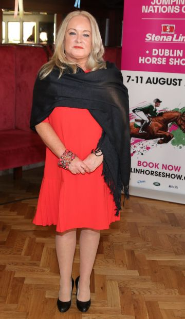 Collette Morrig pictured at the social launch of this year's Longines FEI Jumping Nations Cup of Ireland at the Stena Line Dublin Horse Show, at Bewley's Grafton Street. This year's Show takes place at the RDS from August 7th - 11th. Photo: Leon Farrell/Photocall Ireland.