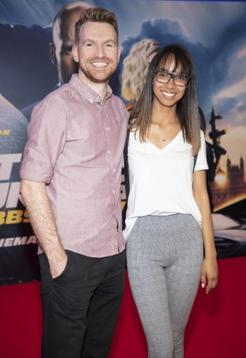 Brian Sheehan & Gigi Rocha pictured at a special preview screening of Fast & Furious Presents: Hobbs & Shaw. Photo: Anthony Woods