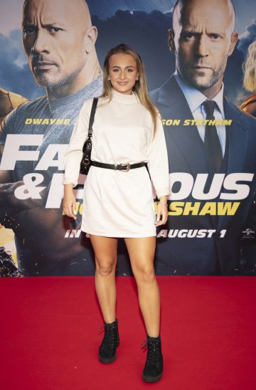 Mia Doherty pictured at a special preview screening of Fast & Furious Presents: Hobbs & Shaw. Photo: Anthony Woods