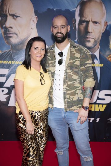 Tracy McLoughlin & Daniel McCluskey pictured at a special preview screening of Fast & Furious Presents: Hobbs & Shaw. Photo: Anthony Woods