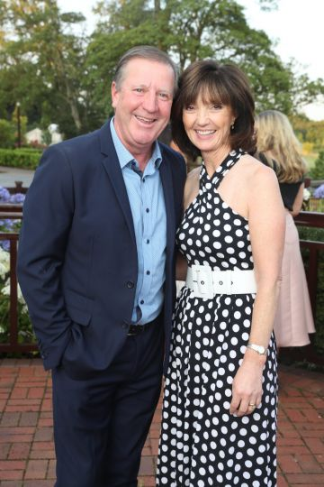 Pictured were Ronnie and Elaine Whelan at the Marie Keating Foundation Celebrity Golf Classic. Picture: Jason Clarke