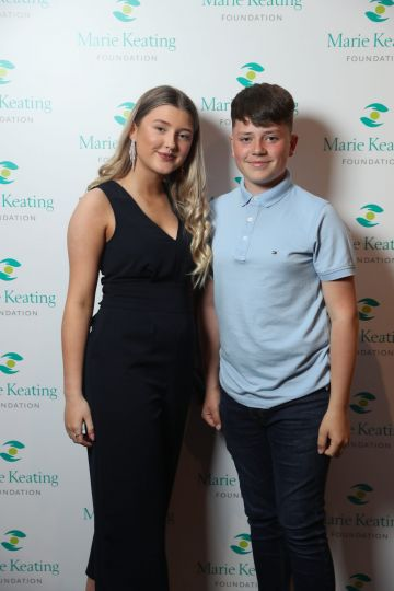 Aoibhinn O'Grady and Josh Keating at the Marie Keating Foundation Celebrity Golf Classic. Picture: Jason Clarke