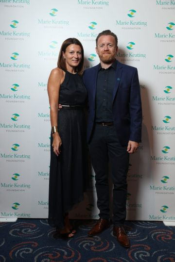 Sara and Terrence Langley at the Marie Keating Foundation Celebrity Golf Classic. Picture: Jason Clarke