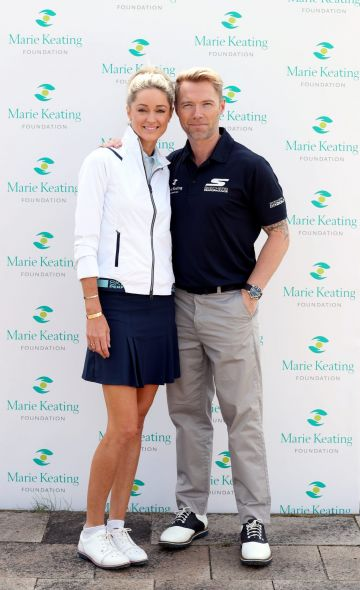 Storm & Ronan Keating pictured at the Marie Keating Foundation Celebrity Golf Classic. Picture: Jason Clarke
