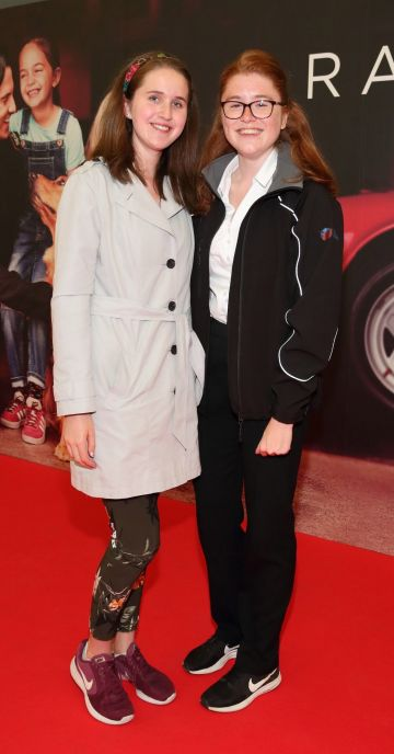 Niamh O'Connor and Blaithin Willis at the special preview screening of The Art of Racing in the Rain at the Odeon Cinema in Point Square,Dublin . Pic Brian McEvoy Photography