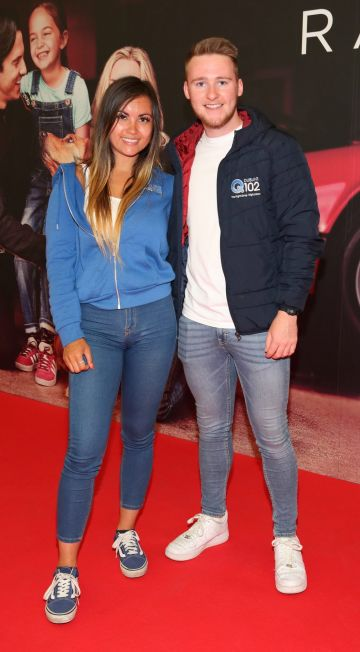 Jasmin Yau and Ryan Kavanagh at the special preview screening of The Art of Racing in the Rain at the Odeon Cinema in Point Square,Dublin . Pic Brian McEvoy Photography