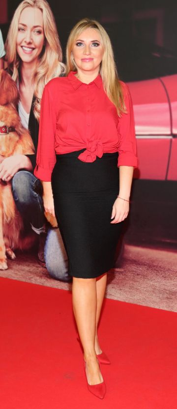 Monica Walsh  at the special preview screening of The Art of Racing in the Rain at the Odeon Cinema in Point Square,Dublin . Pic Brian McEvoy Photography