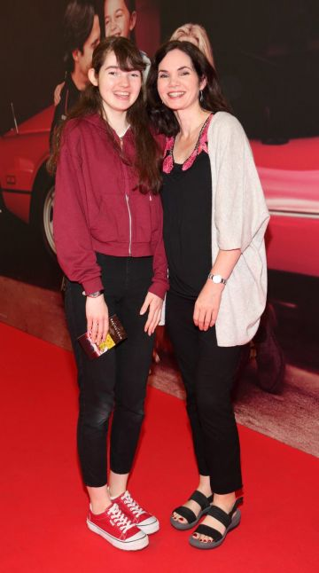 Josie Guiney and Antoinette Guiney at the special preview screening of The Art of Racing in the Rain at the Odeon Cinema in Point Square,Dublin . Pic Brian McEvoy Photography