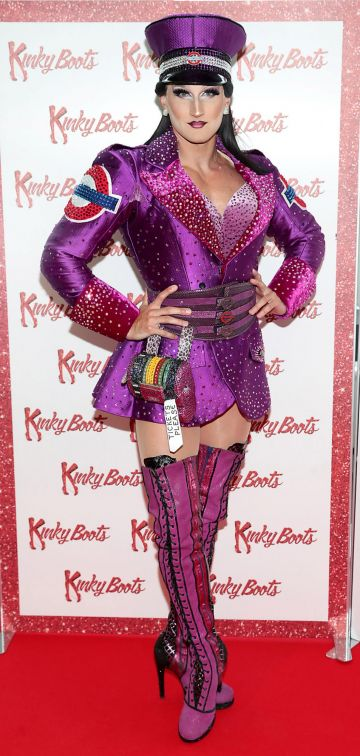Jason Leigh Winters at the opening of the musical Kinky Boots at the Bord Gais Energy Theatre, Dublin.  Picture: Brian McEvoy