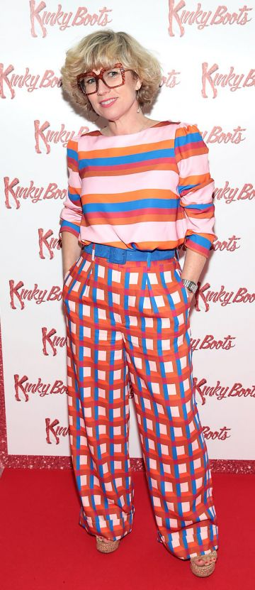 Sonya Lennon at the opening of the musical Kinky Boots at the Bord Gais Energy Theatre, Dublin.  Picture: Brian McEvoy