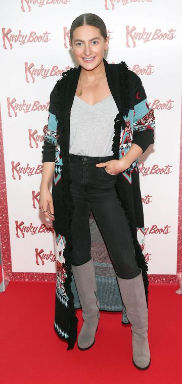 Courtney Smith at the opening of the musical Kinky Boots at the Bord Gais Energy Theatre, Dublin.  Picture: Brian McEvoy