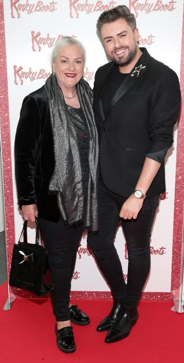 Fron Butler and James Butler at the opening of the musical Kinky Boots at the Bord Gais Energy Theatre, Dublin.  Picture: Brian McEvoy