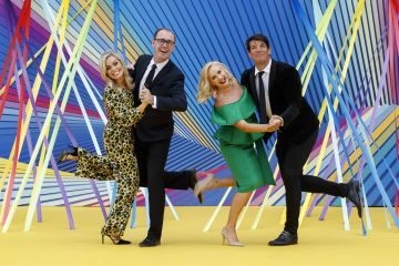 Anna Geary, Brian Redmond, Loraine Barry and Donncha O'Callaghan at RTÉ today announced a slate of new impactful Irish programming, star signings and a strong focus on climate as part of its upcoming new season. Picture: Andres Poveda