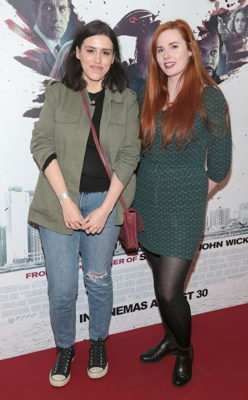 Stephanie Kelly and Saranne Devlin at the special preview screening of The Informer at the Lighthouse Cinema Dublin. Pic: Brian McEvoy