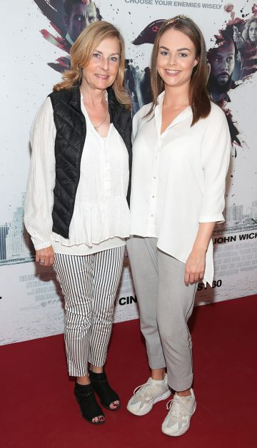 Anne Kunkels and Laura Kunkels at the special preview screening of The Informer at the Lighthouse Cinema Dublin. Pic: Brian McEvoy
