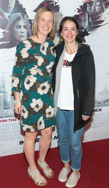 Aoife Harte and Eimear Higgins at the special preview screening of The Informer at the Lighthouse Cinema Dublin. Pic: Brian McEvoy