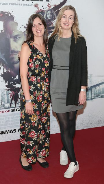 Deirdre Molumby and Rebecca Scott at the special preview screening of The Informer at the Lighthouse Cinema Dublin. Pic: Brian McEvoy
