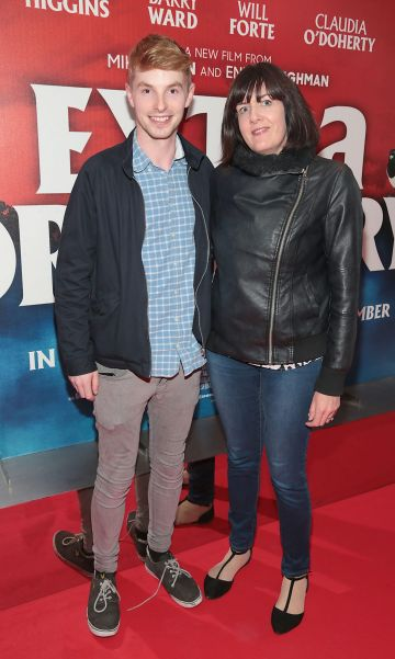 Killian Dowling and Mags O Sullivan at the special preview screening of Extra Ordinary at the Lighthouse Cinema, Dublin. Pic: Brian McEvoy.