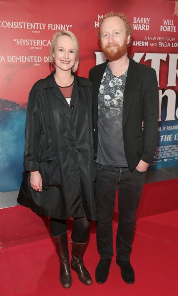 Jane Myers and Demian Fox at the special preview screening of Extra Ordinary at the Lighthouse Cinema, Dublin. Pic: Brian McEvoy.