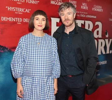 Actors Terri Chandler and Barry Ward at the special preview screening of Extra Ordinary at the Lighthouse Cinema, Dublin. Pic: Brian McEvoy.