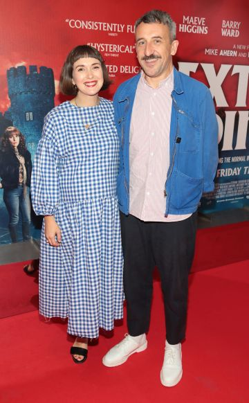 Terri Chandler and Mike Ahern pictured at the special preview screening of Extra Ordinary at the Lighthouse Cinema, Dublin. Pic: Brian McEvoy.