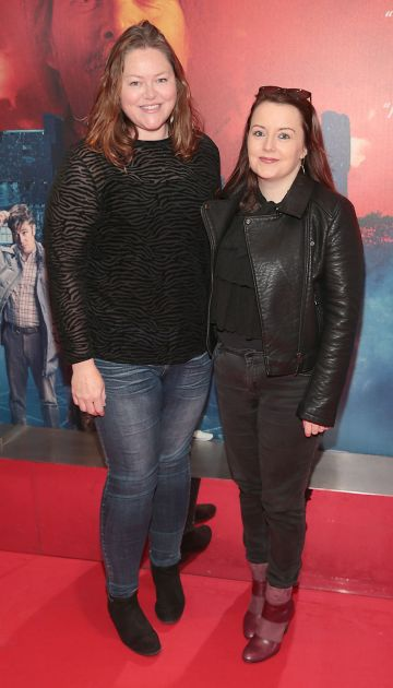 Katie Holly and Yvonne Donohoe pictured at the special preview screening of Extra Ordinary at the Lighthouse Cinema, Dublin. Pic: Brian McEvoy.