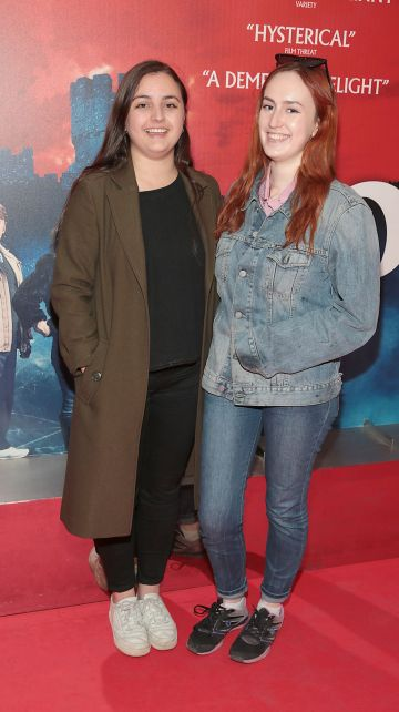 India Sacre and Freya McMorrow at the special preview screening of Extra Ordinary at the Lighthouse Cinema, Dublin. Pic: Brian McEvoy.