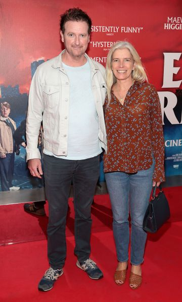 Risteard Cooper and Suzanne McMorrow  at the special preview screening of Extra Ordinary at the Lighthouse Cinema, Dublin. Pic: Brian McEvoy.