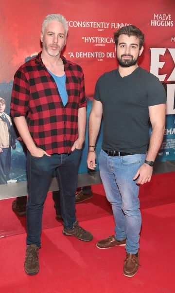 Paddy Murphy and Ben O Beirne at the special preview screening of Extra Ordinary at the Lighthouse Cinema, Dublin. Pic: Brian McEvoy.