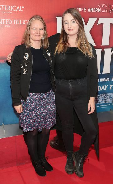 Ruth Treacy and Eithne Fitzsimons  at the special preview screening of Extra Ordinary at the Lighthouse Cinema, Dublin. Pic: Brian McEvoy.