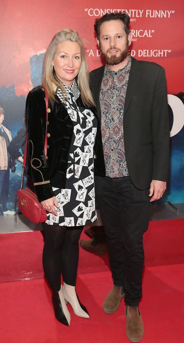 Kate Coughlan and Ross McGee at the special preview screening of Extra Ordinary at the Lighthouse Cinema, Dublin. Pic: Brian McEvoy.
