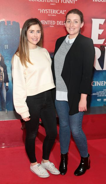 Sinead Brady and Shauna Downey at the special preview screening of Extra Ordinary at the Lighthouse Cinema, Dublin. Pic: Brian McEvoy.
