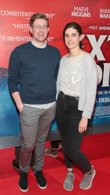 Se Sweeney and Hannah McDonnell at the special preview screening of Extra Ordinary at the Lighthouse Cinema, Dublin. Pic: Brian McEvoy.