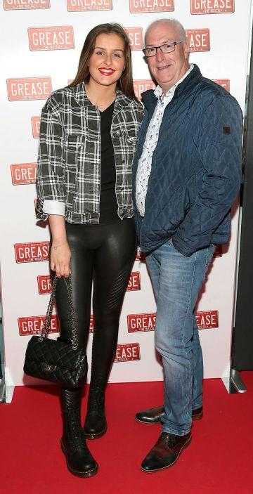 Katie Jackson and Damien Jackson pictured at the opening night of the musical Grease at the Bord Gais Energy Theatre, Dublin. Pic: Brian McEvoy