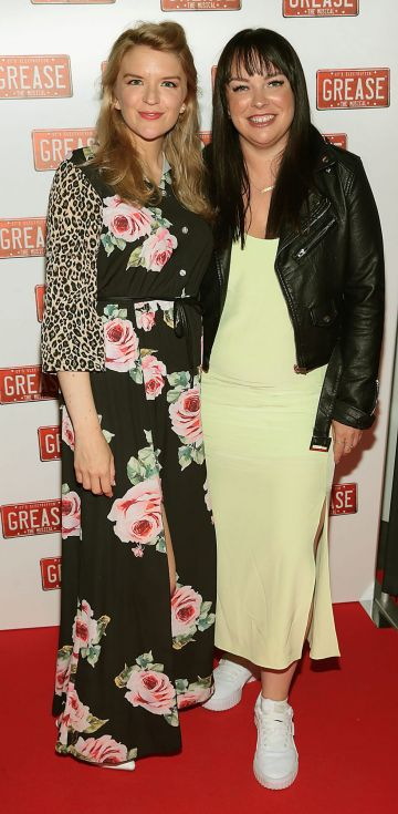 Helen Kelly and Laura Wilson  pictured at the opening night of the musical Grease at the Bord Gais Energy Theatre, Dublin. Pic: Brian McEvoy