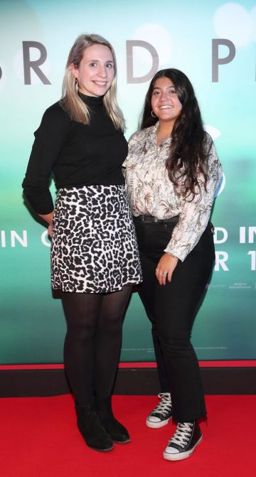 Heather Steele and Maria Corrochano  at the special preview screening of Ad Astra at Cineworld, Dublin. Pic: Brian McEvoy Photography