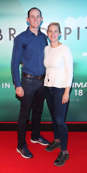 Neil Barton and Emily Barton   at the special preview screening of Ad Astra at Cineworld, Dublin. Pic: Brian McEvoy Photography