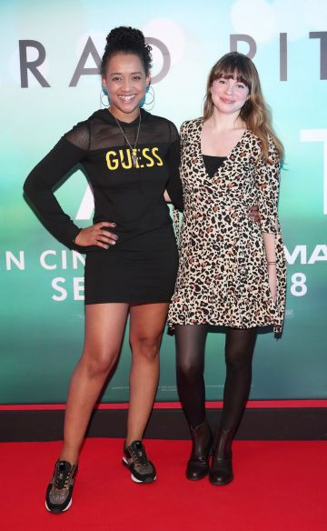 Elvira Oreden and Hannah Keaveney at the special preview screening of Ad Astra at Cineworld, Dublin. Pic: Brian McEvoy Photography