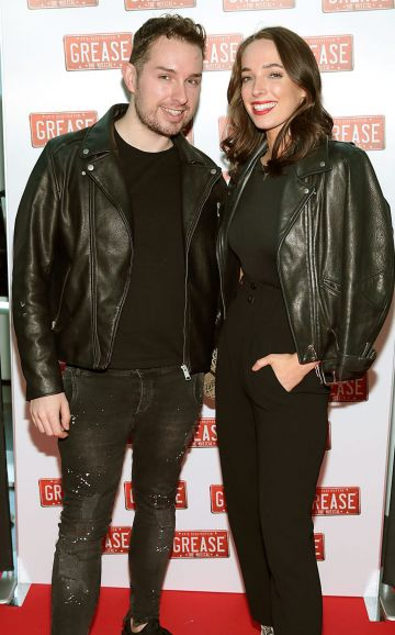 Eamonn McGill and Ciara O Doherty pictured at the opening night of the musical Grease at the Bord Gais Energy Theatre,Dublin. Pic Brian McEvoy No Repro fee for one use