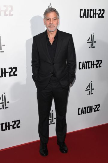 "LONDON, ENGLAND - MAY 15: George Clooney attends the ""Catch 22"" UK premiere on May 15, 2019 in London, United Kingdom. (Photo by Stuart C. Wilson/Getty Images)"